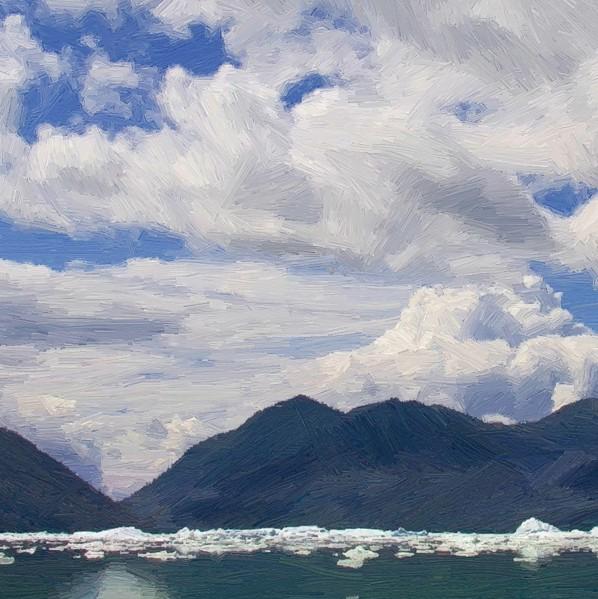 Alaskan Glacier Bay - detail - 600
