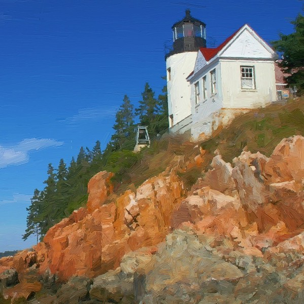 Bass Harbor Lighthouse - detail - 600