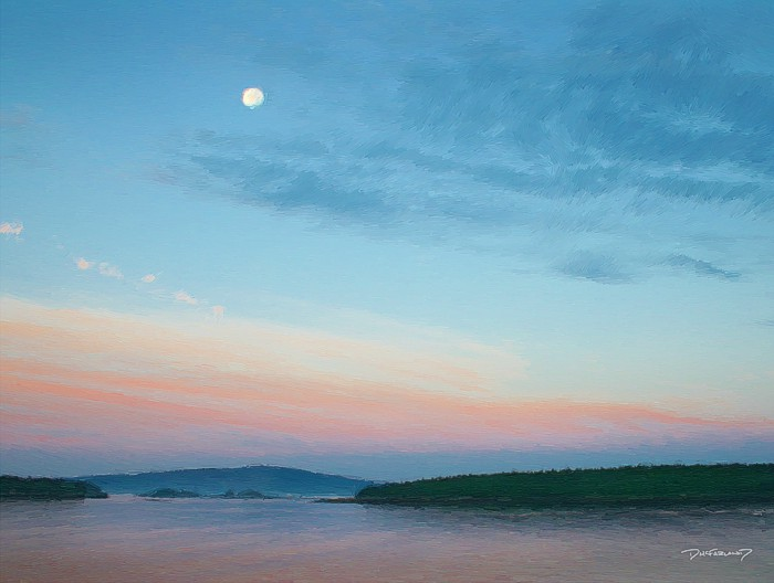 p5-0920 - Acadia Morning Moon - 3450 - art - wsig - 700