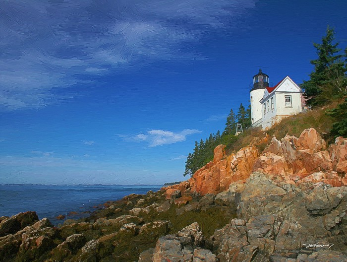 p5-0922 - Bass Harbor Lighthouse - 3886 - art - wsig - 700