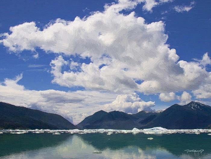 p7-0613 - Alaskan Glacier Bay - 16528 - art - wsig - 700